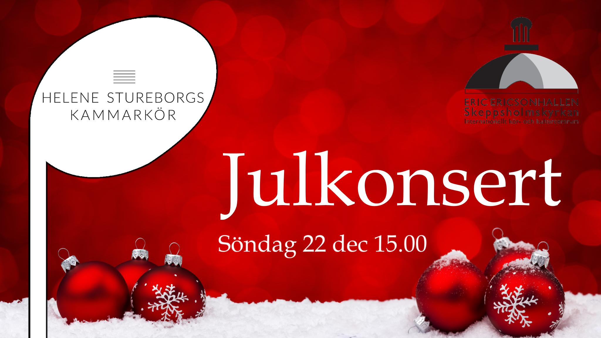 julkonsert 22 december stockholm